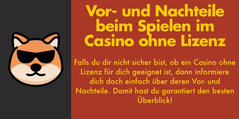 online casino ohne lizenz in Deutschland